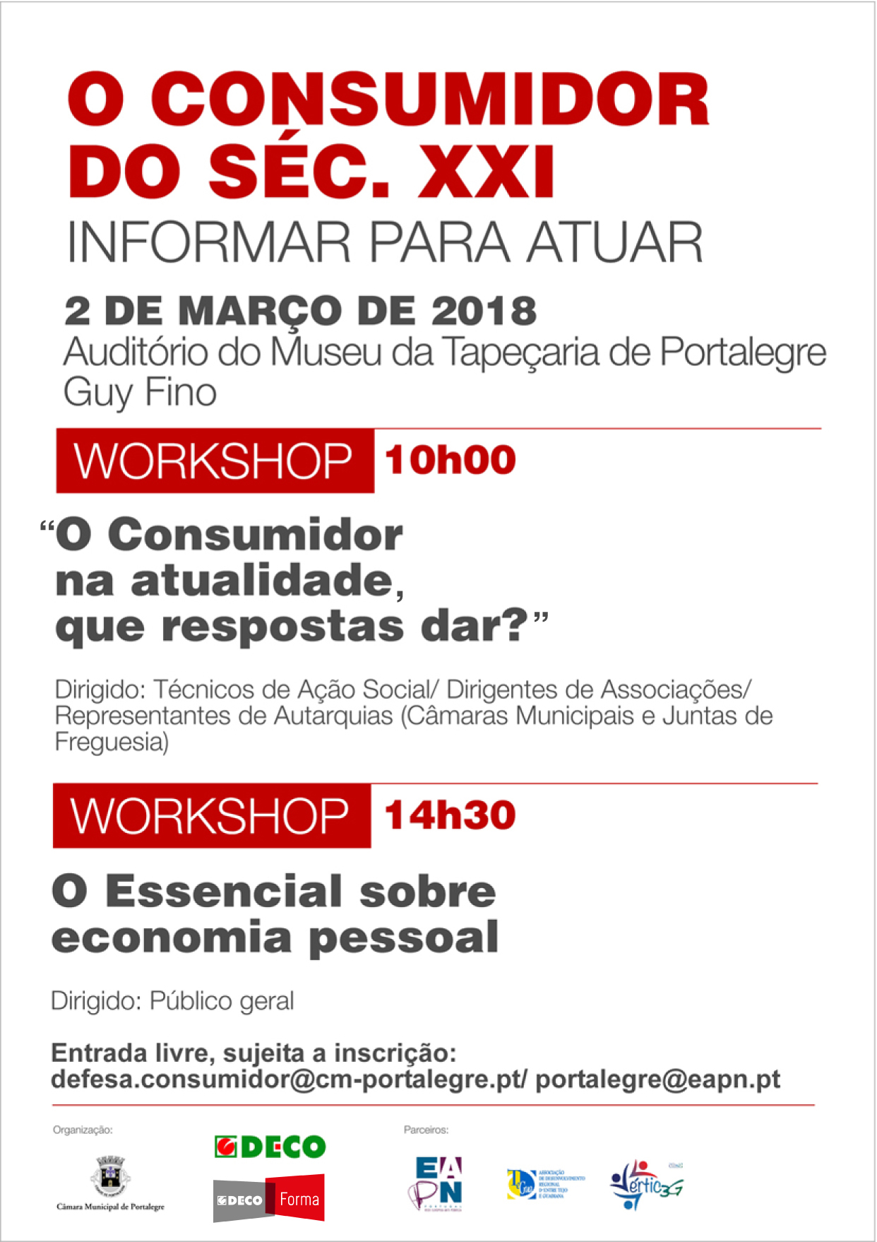 O consumidor do Séc. XXI: Workshops em Portalegre