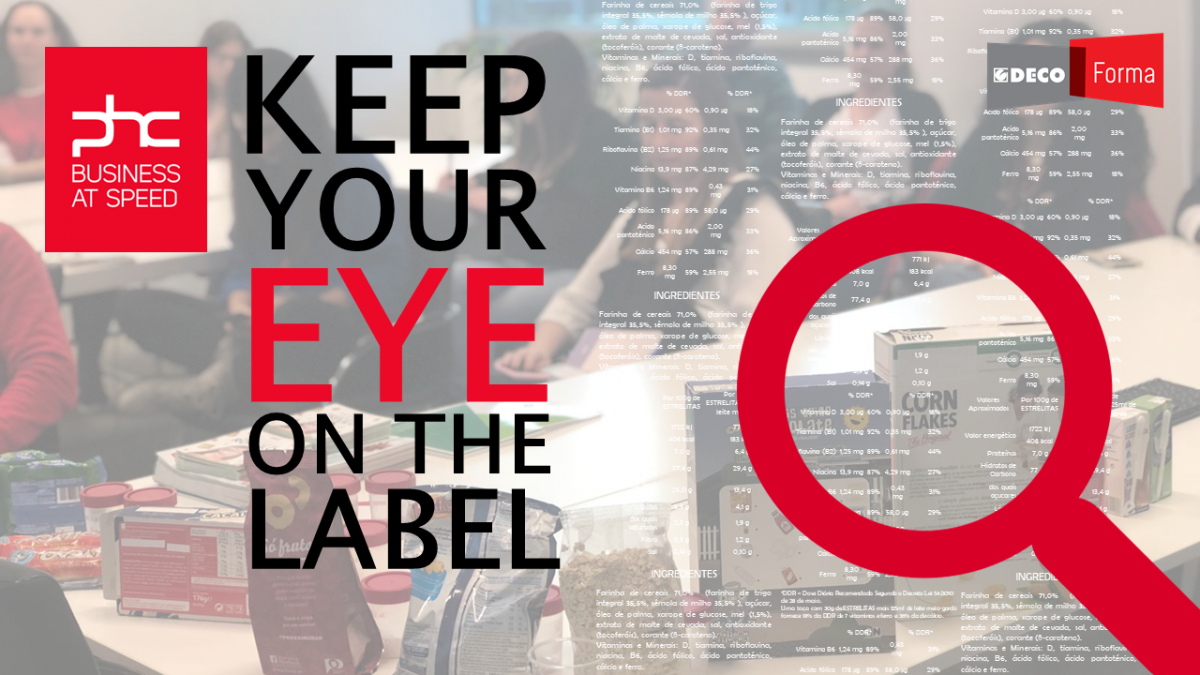 """Keep your eye on the label"" com a PHC"